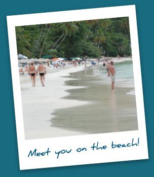 Caribbean beach picture