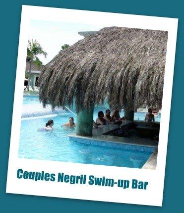 Couples Negril swim-up bar