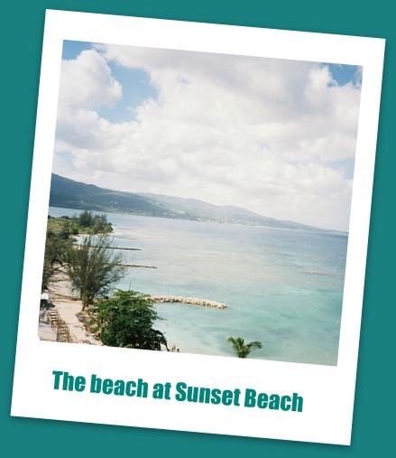 the beach at Sunset Beach Resort Jamaica